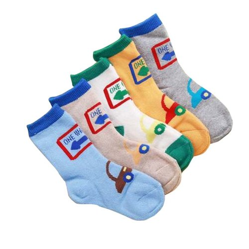 Breathable Kids Socks for Boys/Girls 5 Pairs Cotton