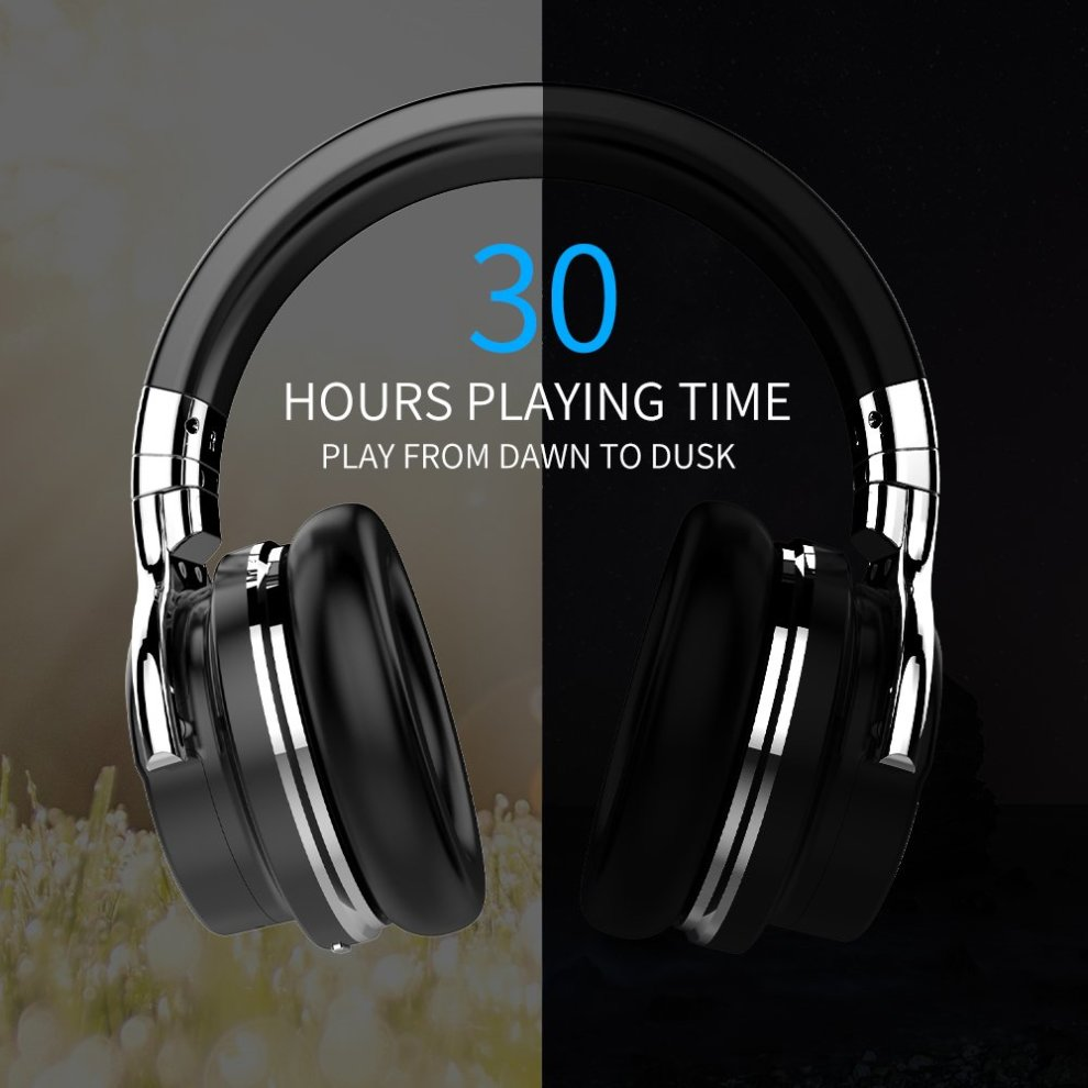 6dfd88b9a9e ... COWIN E7 Active Noise Cancelling Bluetooth Headphones with Microphone Hi -Fi Deep Bass Wireless Headphones ...