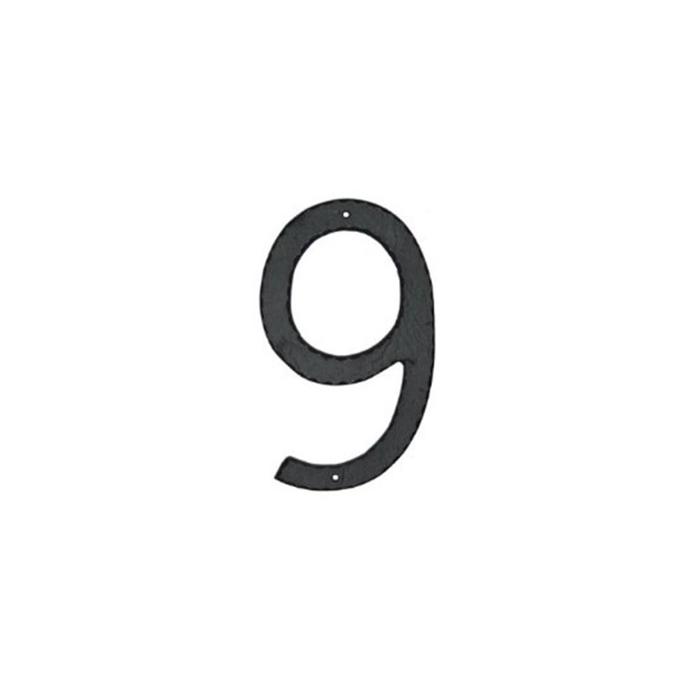 Montague Metal Products THN-9 10 In  Textured Modern Font Individual House  Number 9
