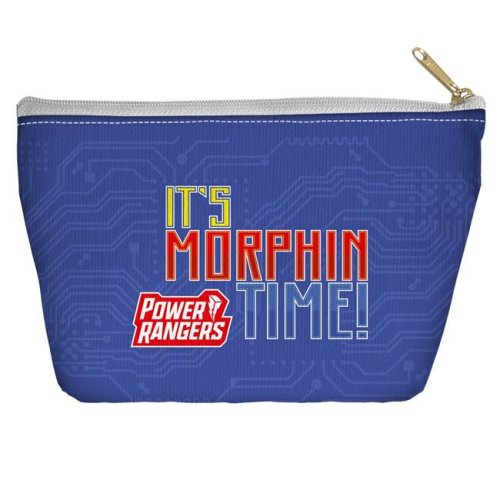 Trevco Sportswear PWR2416-PCH2-12.5x8.5 Power Rangers & Its Morphin Time Accessory Pouch, White - 12.5 x 8.5 in.
