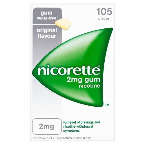 Nicorette Gum 2mg 105 Pieces