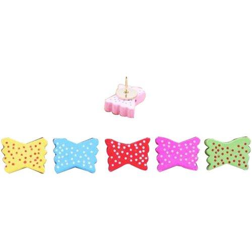 20 Pcs Creative Pushpin Push Pin Thumbtack Office Supplies, Color bow
