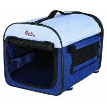 Trixie T-camp Mobile Dog Kennel, Size 3, 60x50cm - Transporthtte Dark Blue -  trixie transporthtte dark blue beige various sizes new