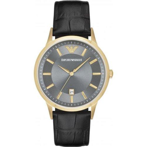 Armani Watch AR11049 Date Watch Black Leather Man
