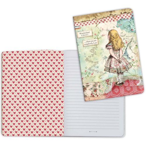 Stamperia Lined Notebook A5-Alice