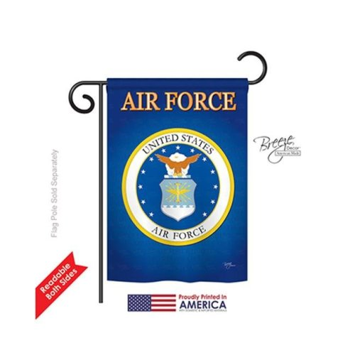 Breeze Decor 58054 Military Air Force 2-Sided Impression Garden Flag - 13 x 18.5 in.