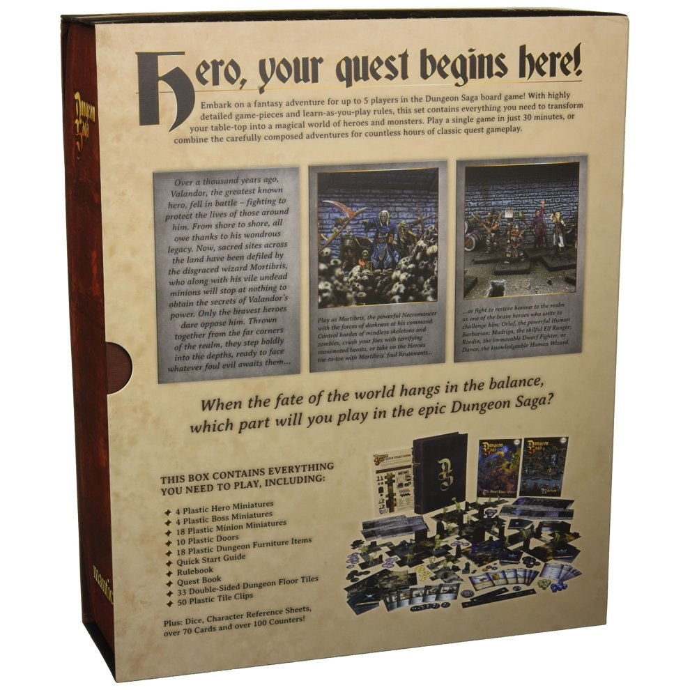 Mantic Games - MGDS01 - Dungeon Saga the Dwarf Kings Quest - Fantasy 28mm  Miniature Adventure Strategy Board Game