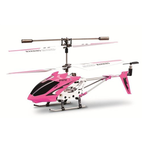 Syma S107G Infrared Controlled Helicopter with Gyroscopic Stability Control - Pink