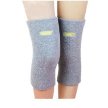 A pair of Cotton Knee Support Sleeves Brace Pads for Sports/Recovery - Grey