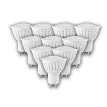 6W GU10 2700K 450lm Warm White LED Spot Bulb White Plastic (10 PACK)