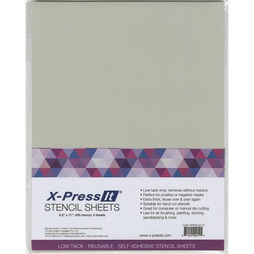 """X-Press It Stencil Sheets 8.5""""X11"""" 4/Pkg-"""