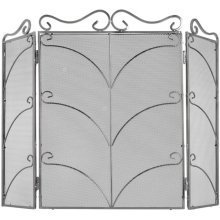 Fire Screen Silver Ornate