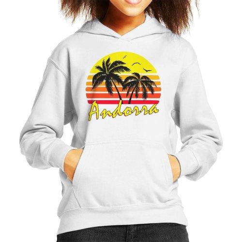 Andorra Vintage Sun Kid's Hooded Sweatshirt