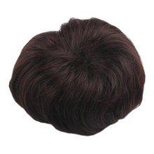 Ladies Hair Bun Extension Hair Donut Chignon Hair Piece Wig, Dark Brown