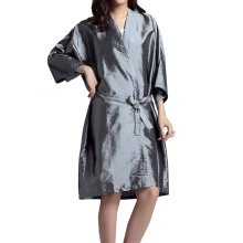 Professional Hair Salon Cape Waterproof SPA Kimono Bath Robe-Gray