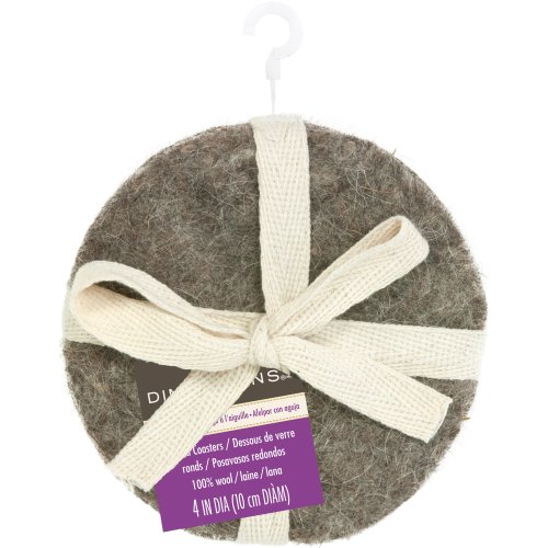 "Dimensions Feltworks Coaster Set 4""-Round"