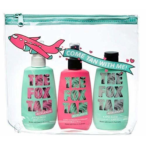 The Fox Tan Jet-Setter Bundle 3 Pack and Travel Bag - The Jet-Setter is created for the babe that wants to take her Fox Tan anywhere and everywhere!