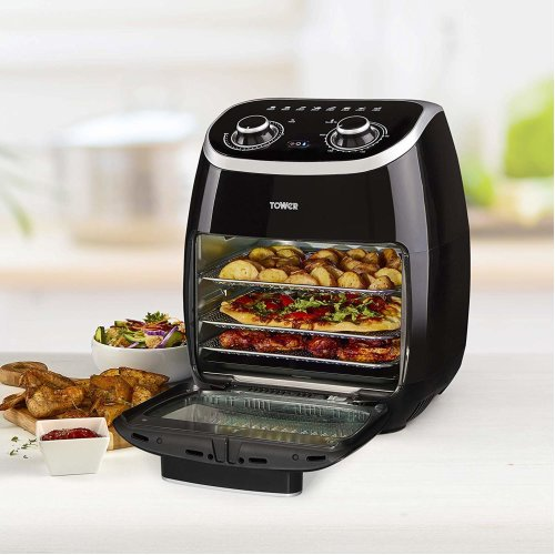 Tower T17038 Air Fryer Oven, Rotisserie Function,Rapid Air Circulation