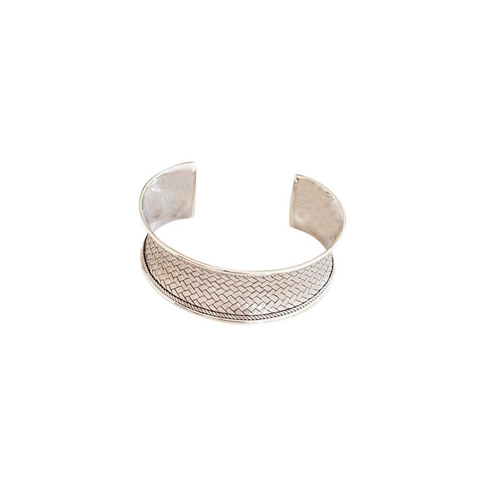 1bc4dbb2ad3 ... FAB Womens 925 Silver Bangle Bracelet, silver Cuff Bracelet - 1 ...