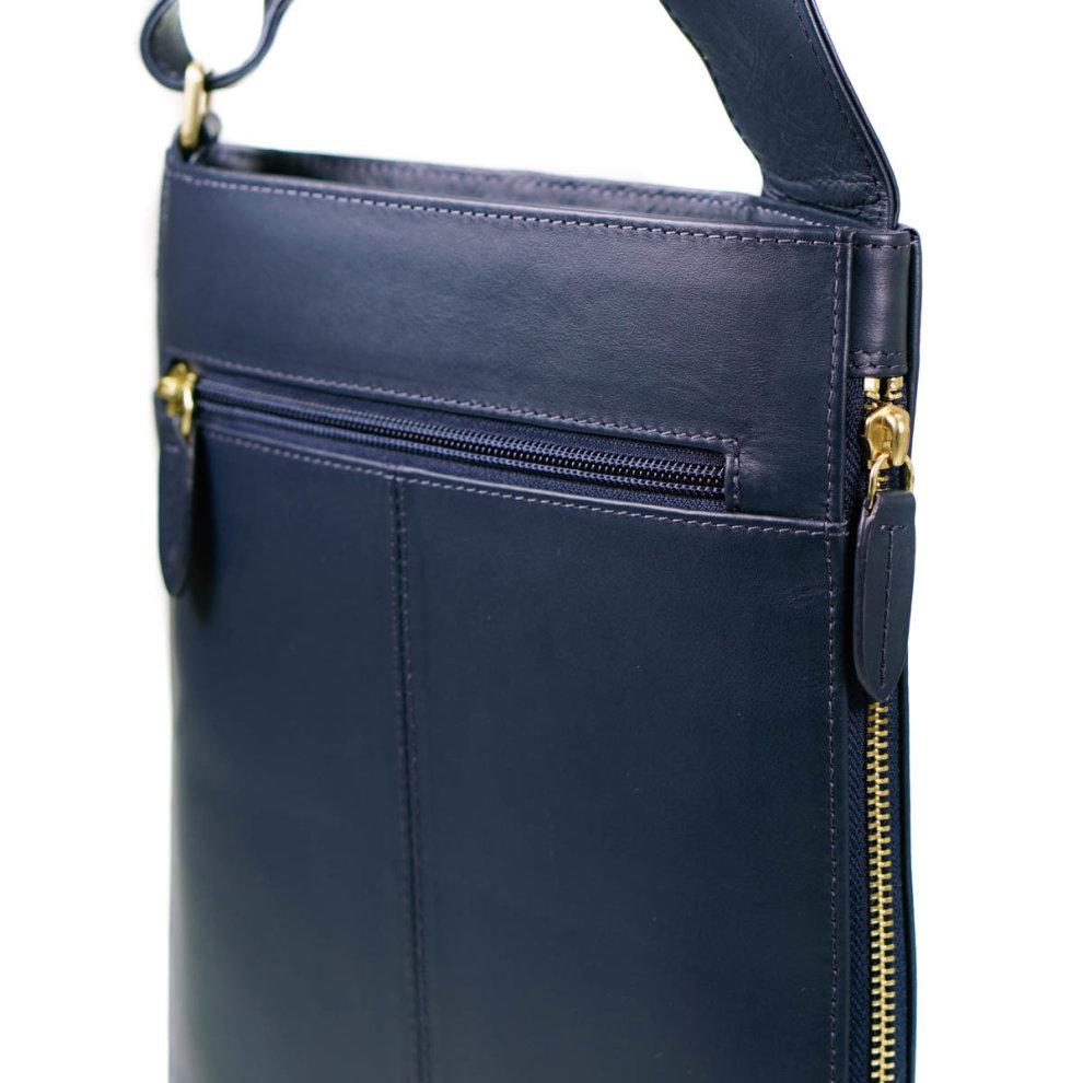 6cc9ddbb1ff3a ... Radley Pocket Bag Navy Blue Leather Medium Zip Top Cross Body Bag - 1  ...