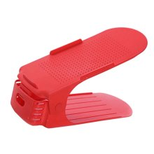 Red One-Piece Double Shoe Rack  Shoe Organizer /Set Of 3