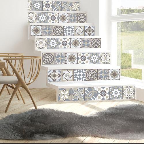 Walplus Tile Limestone Spanish Wall Sticker Decal (Size: 15m x 15cm @ 24pcs)