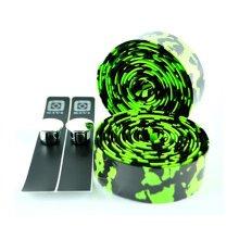 Set Of 2 Bicycle Anti-slip Handlebar Tape Decorating Bike Bar Tape Black/Green