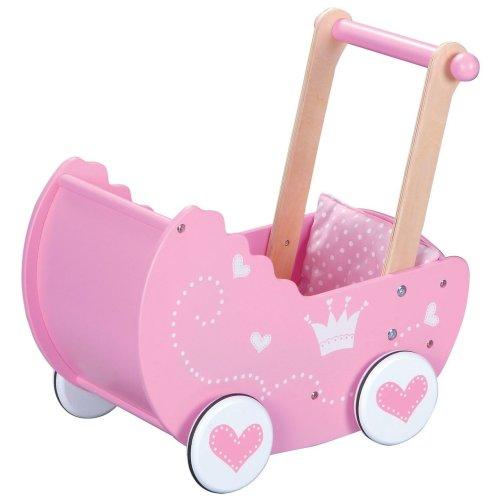Lelin Wooden Princess Doll Pram Buggy Pushchair Children Girls Pretend Play