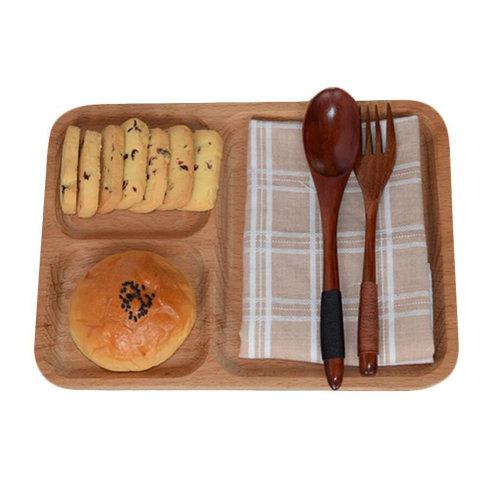 Wooden Dinnerware Fruit/ Meat/ Dessert Dishes Dinner Plate 25 X 18.5 CM