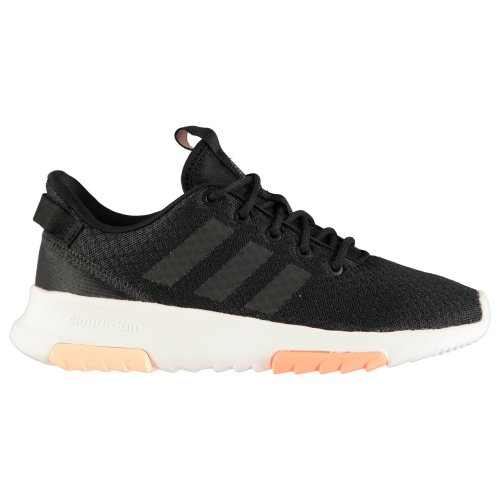 adidas CF Racer TR Womens Trainers Shoes Black/White/Pink Ladies Running Sneaker