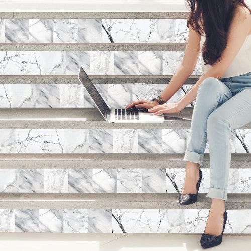 6 Marble Tiles Mix Wall Stickers - 15 cm x 15 cm - 24 pcs.