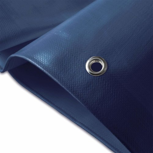 casa pura Heavy Duty Tarpaulin, High Density Woven Polyethylene and Double Laminated - 4x6m, 180g/m², Blue - 100% Waterproof and UV Protected