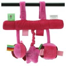Label Label Car Seat Toy / Pink & Fuschia