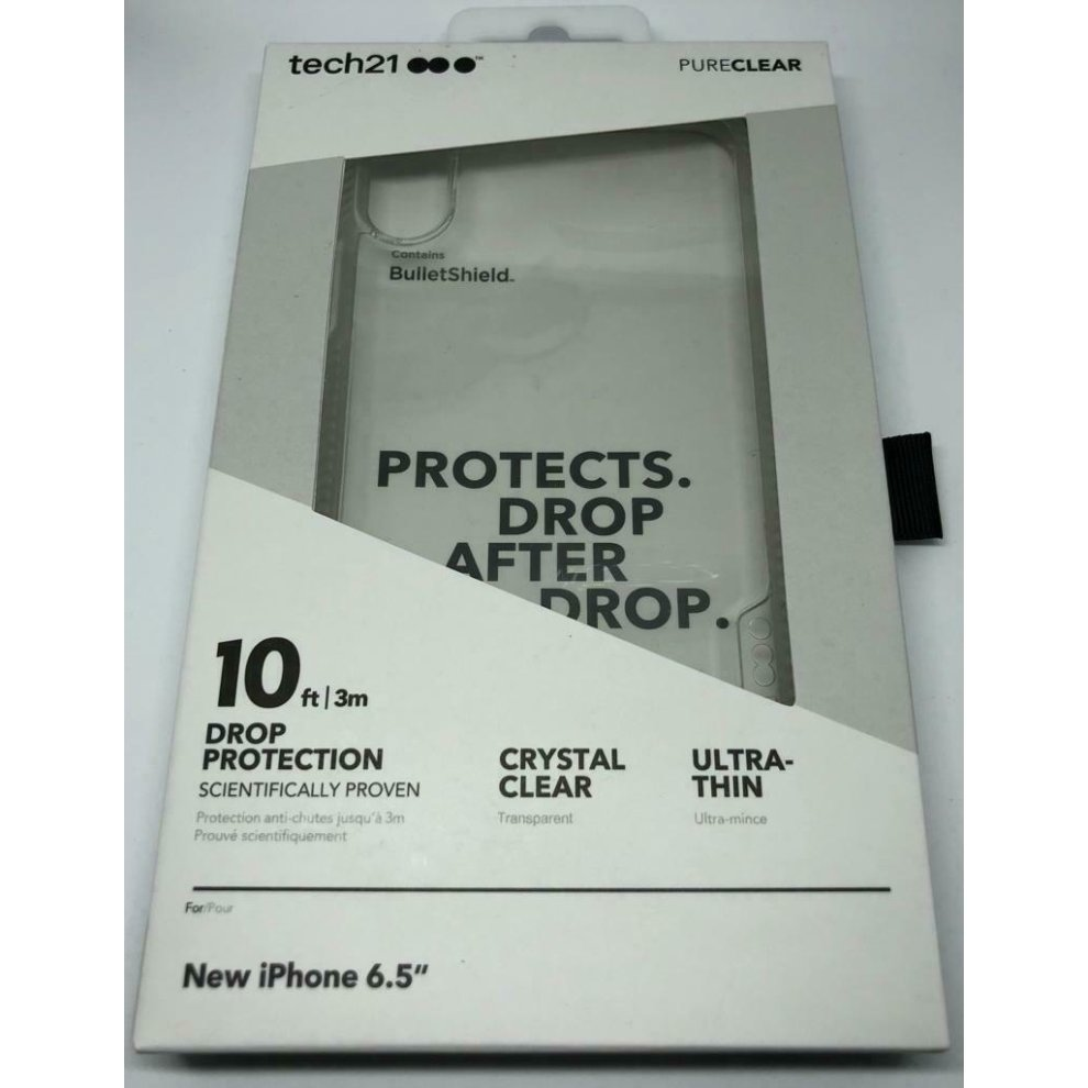 premium selection dd994 018df TECH 21 PURE CLEAR IMP. CASE IPHONE XS MAX 6.5 SHOCK PROOF PROTECTION