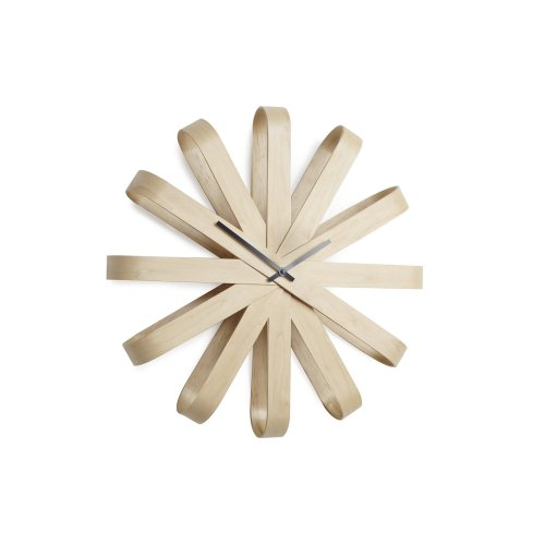 Umbra Ribbonwood Wall Clock, Natural