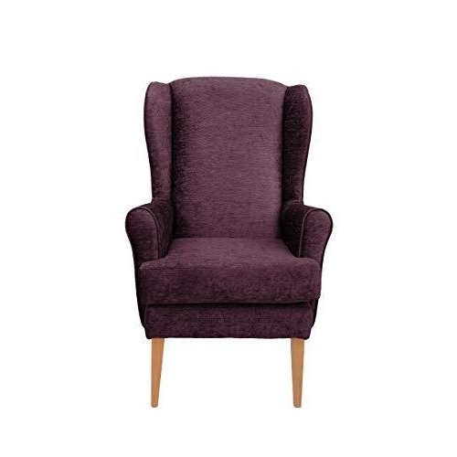 MAWCARE Darcy Orthopaedic High Seat Chair - 21 x 21 Inches [Height x Width] in Darcy Plum (lc21-Darcy_d)