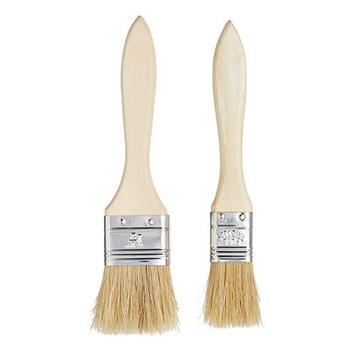 Kitchen Craft Wide Wooden Basting / Pastry Brush Set (2 Pieces)