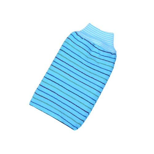 Striped Single Bath Towel Exfoliating Rubbing Towel,Blue