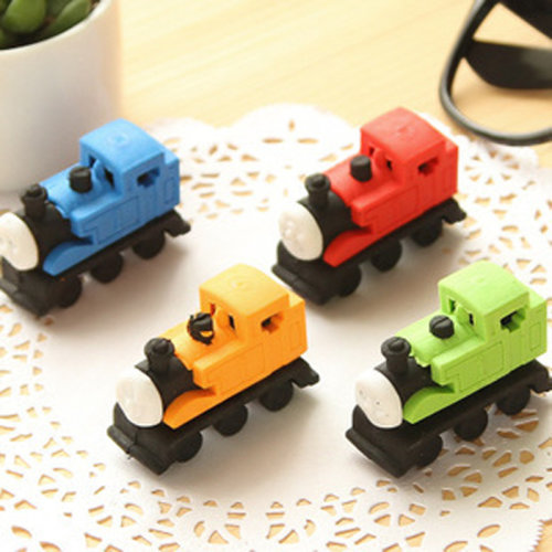 Cute Train Shaped Erasers Novelty Fun Kids Rubbers Party Gift Bag Fillers For Thomas Fans Red