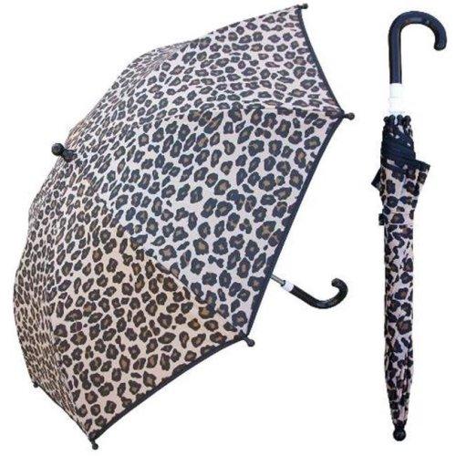 RainStoppers W104CHANIMAL 32 in. Childrens Leopard Print Umbrella, 3 Piece