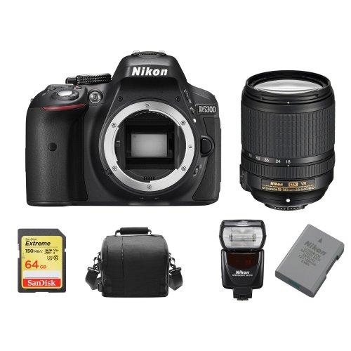 NIKON D5300 18-140MM ED VR DX+64G SDcard+Bag+EN-EL14A+SB700 Speedlight