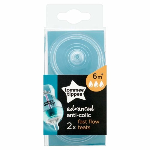 Tommee Tippee Advanced Anti-Colic Fast Flow Teats, 2 Count