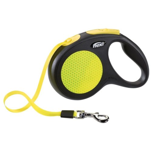 Flexi Tape Leash New Neon Size M 5 m Black and Neon 20916