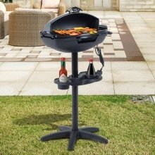 Outsunny 2000w Garden Stand Electric Grill Non-stick  Outdoor Bbq Cooking