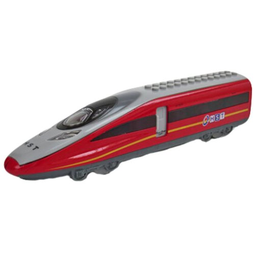 Simulation Locomotive Toy Model Trains Assembles Toy, RED (23*5.5*4CM)