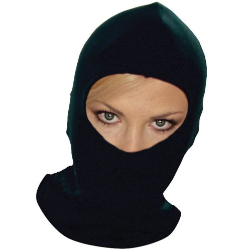 Black balaclava helmet inner liner synthetic silk motorcycle scooter