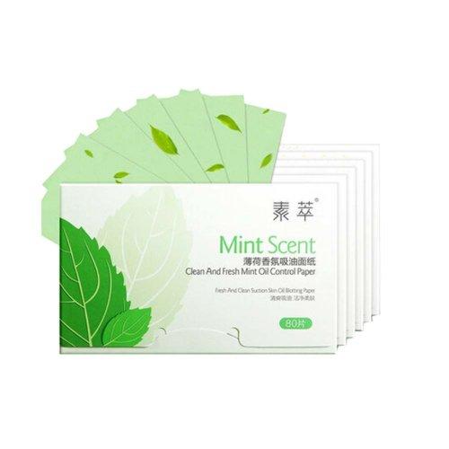 Set of 6 Oil Control Paper Men/Women Oil Blotting Paper(6*80 sheets),Mint