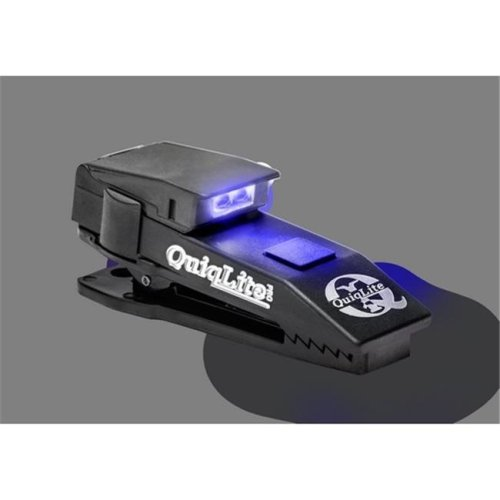 Quiqlite QL-Q-PROBW Pro Hands Free Pocket Concealable Flashlight with LEDs, White & Blue