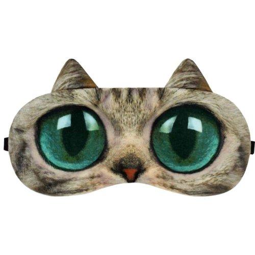 Big Eyes Cat Expression Sleep Mask Sleep Goggles Eye Cover