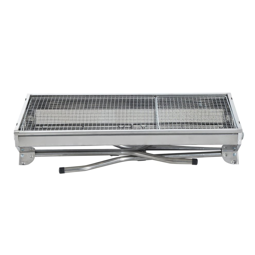 ... Outsunny Portable Stainless Steel Charcoal BBQ Grill Picnic Camping   3  ...